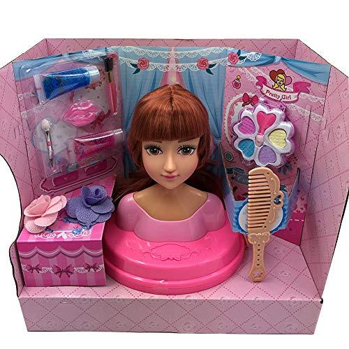 Make-up Doll Sets, Halben Körper Make-up Frisur Puppe, Mit Make-up Haar-Accessoire-Kit, Dressing Make-up Dolls Girls Geschenk