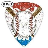 Batte de baseball et balle dessinés à la main sur fond artistique de couleur grunge (pack de 12)