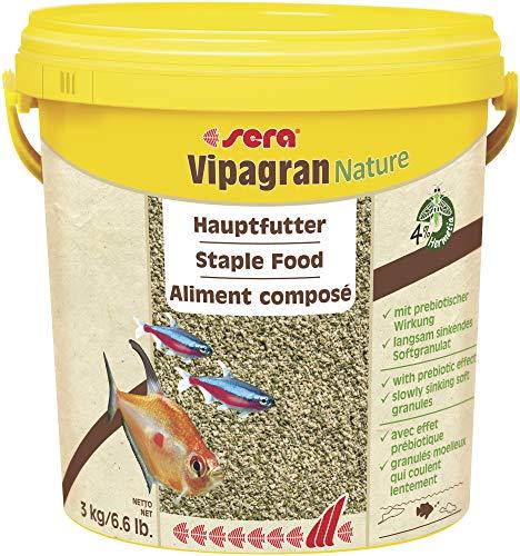 Sera Vipagran Nature Alimento Principal en Forma de granulado Blando con un 4% de harina de Insectos, 10 l (Paquete de 1)