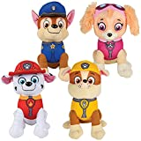Paw Patrol Plush Pup Pal 4 Pcs Character Plush Set Marshall Chase Rubble Skye 8' Plush Doll