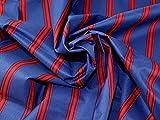 Minerva Crafts Stoff, wasserabweisend, gestreift, Rot/Blau