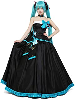 hatsune miku black dress