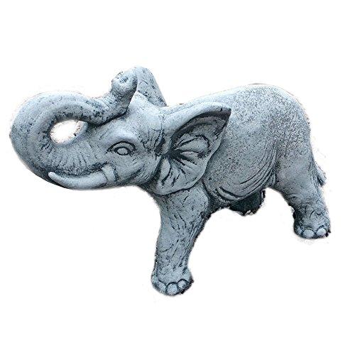 Steinfigur Elefanten Elefant Dumbo Gartenfigur Tierfigur Steinguss Frostfest