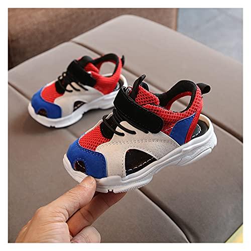 Youpin Zapatos de verano para bebé, sandalias de playa para niños, parte inferior de cuero suave, antideslizante, puntera cerrada, zapatos de seguridad para niños (color: W, tamaño de zapato: 30)