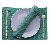Way2like Manteles De Yute Lavables Manteles Individuales Mesa De Comedor A Prueba De Calor Manteles Individuales Cocina