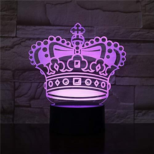 Nur 1 Stück Hübsches Baby Led Nachtlampe Krone Nachtlicht für Kinderbett Zimmer Usb 3d Lampe Mädchen Geburtstagsgeschenk Led Nachtlicht