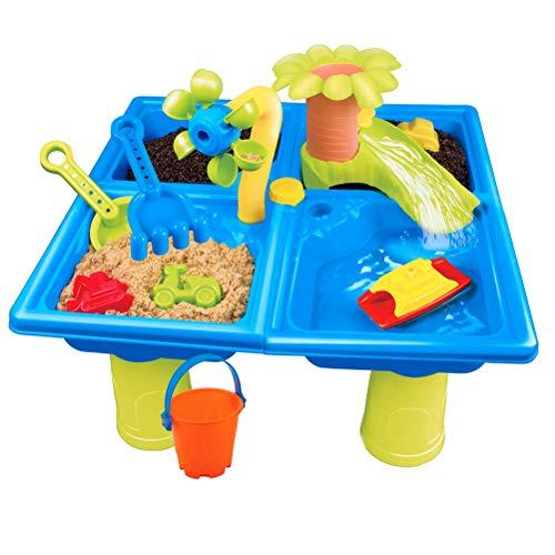 RetroFun Juego de Mesa de Actividades al Aire Libre de Arena y Agua con Juguetes de Playa para niños, Color Aleatorio