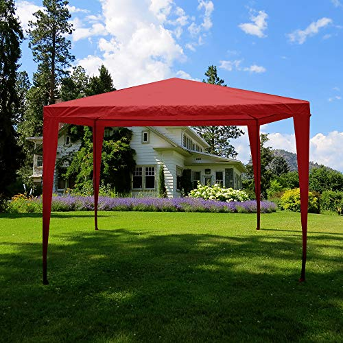 Garden Vida Pop Up Gazebo 3x3m Marquee Party Tent Outdoor Garden Canopy Waterproof with Carry Bag, Red