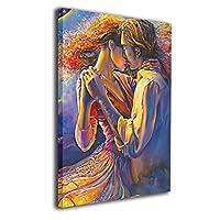 Skydoor J パネル ポスターフレーム カップル キス インテリア アートフレーム 額 モダン 壁掛けポスタ アート 壁アート 壁掛け絵画 装飾画 かべ飾り 50×40