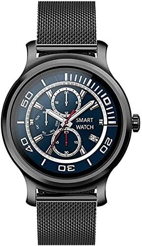 XYJ Smart Watch 1 28 Pulgadas Mostrar de Alta definición Círculo Completo Pantalla táctil Bluetooth Llamada multifunción Pulsera Deportiva (Color : Black Steel)