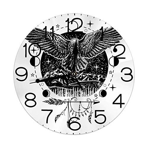 GoodLucke Reloj de Pared Redondo Decorativo, Dibujo Tatuaje...