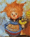 DIY pintura al óleo por números dibujos animados sin marco para adultos artesanía dibujar por número muñeca pintura acrílica decoración del hogar A1 40x50cm