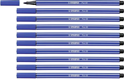 Rotulador STABILO Pen 68 – Caja con 10 unidades – Color naranja