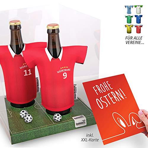 Ostergeschenk   Der Trikotkühler   Das Männergeschenk für WÜRZBURGER Kickers-Fans   Langlebige Geschenkidee Ehe-Mann Freund Vater Geburtstag   Bier-Flaschenkühler by Ligakakao