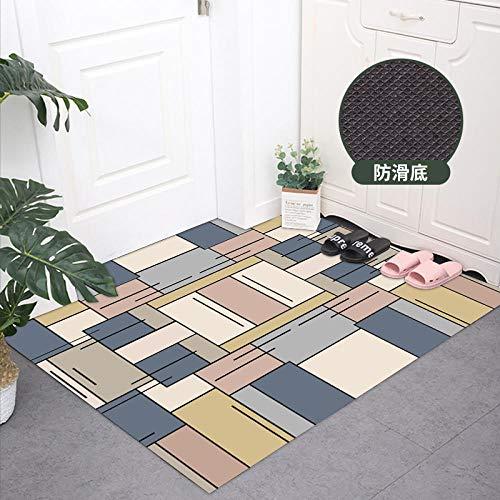 Deurmatten, vloermatten, uitwisbare tapijten, zelfklevende toegangspads, litchi-textuur-45 cm breed × 75 cm lang_4PVC