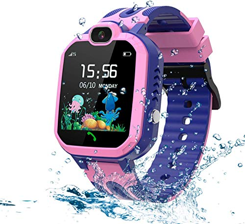 LDB Kinder Smartwatch Phone,wasserdichte LBS Tracker Smart Watch Voice Chat SOS Kamera Taschenlampe...