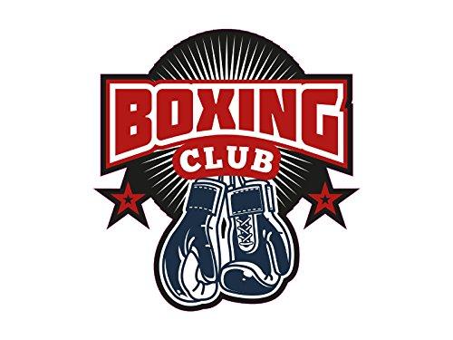 1 x Aufkleber Boxing Sticker Club Box Handschuhe Sticker Training Logo Verein