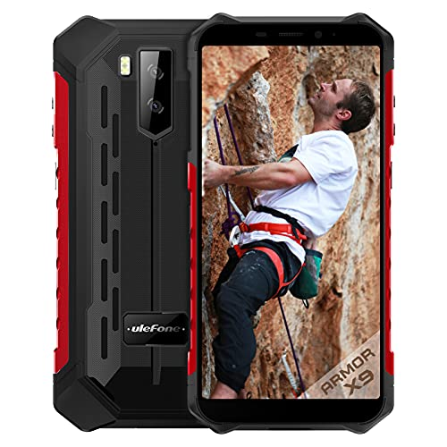 "Smartphone Incassable 4G,Ulefone Armor X9 Android 11 Octa-Core 3Go+32Go 5.5"" HD+ 5000mAh IP68 / IP69K OTG NFC Dual Nano Telephone Portable Debloque Incassable(Rouge)"