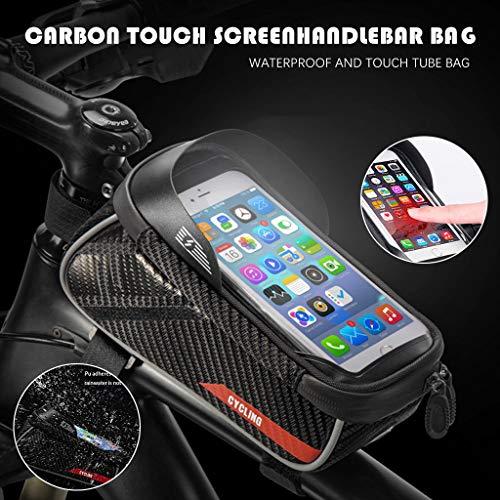 Blingko Fahrradtasche Wasserdicht für für Smartphones bis 6.5 Zoll,Rahmentasche Handytasche Mit...