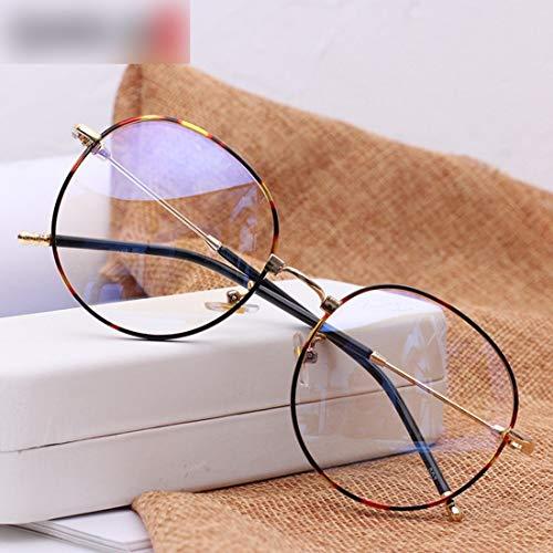 Hemotrade bril met rond frame, doorzichtige brillen, uniseks, zonder bril, voor dames en heren