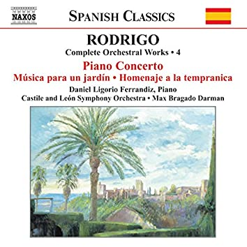 Rodrigo: Piano Concerto / Musica Para Un Jardin (Complete Orchestral Works, Vol. 4)