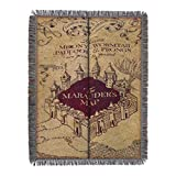 Harry Potter Marauder's Woven Tapestry Throw Blanket, 48' x 60', Maruader's Map