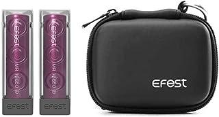 電子タバコ バッテリー 「Efest 18650 3000mAh」2本1セット リチウムマンガン VAPE +Efest純正VAPEバッテリーケース セット