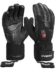 INBIKE Verwarmde Handschoenen Direct Verwarmde Winterhandschoenen van Geitenleer voor Motor-, Fiets-, Ski- en andere Buitensporten Werkt tot 2,5-5 uur