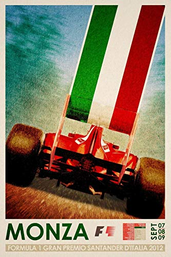 Grand Prix Formula 1 Monza Italy 2012 Decor Signs 8x12 Inch Metal Tin Sign