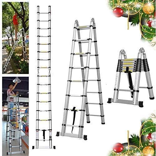 2021 16.5FT sale Extension Telescopic A-Frame Ladder 16 discount Feet Multi-Purpose Aluminum Portable Ladder 330lb Loading EN131 Certified outlet sale