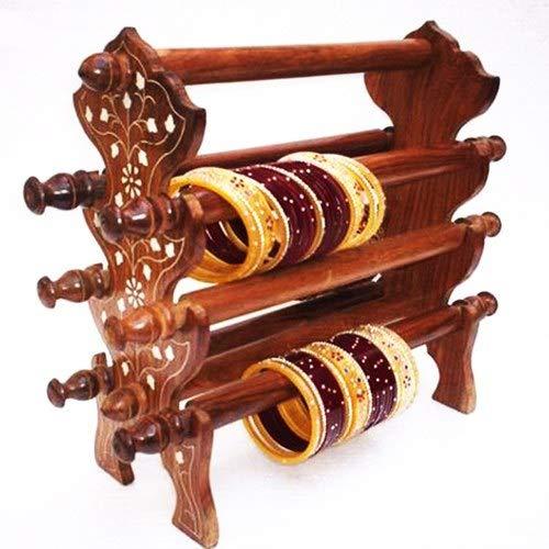Großes Weihnachtsgeschenk Holz-Armreif-Ständer für Frauen, dekorativer Armreif-Ständer, Armbanduhr-Ständer, Schmuck-Ständer, handgefertigter Armreif-Ständer