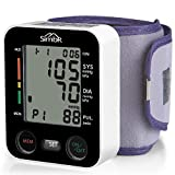 SIMBR Tensiómetro de muñeca Monitor de presión arterial Alta precisión y...