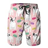 Paint0 French Bulldog Men's Quick Dry Beach Board Shorts Summer Swim Trunks L