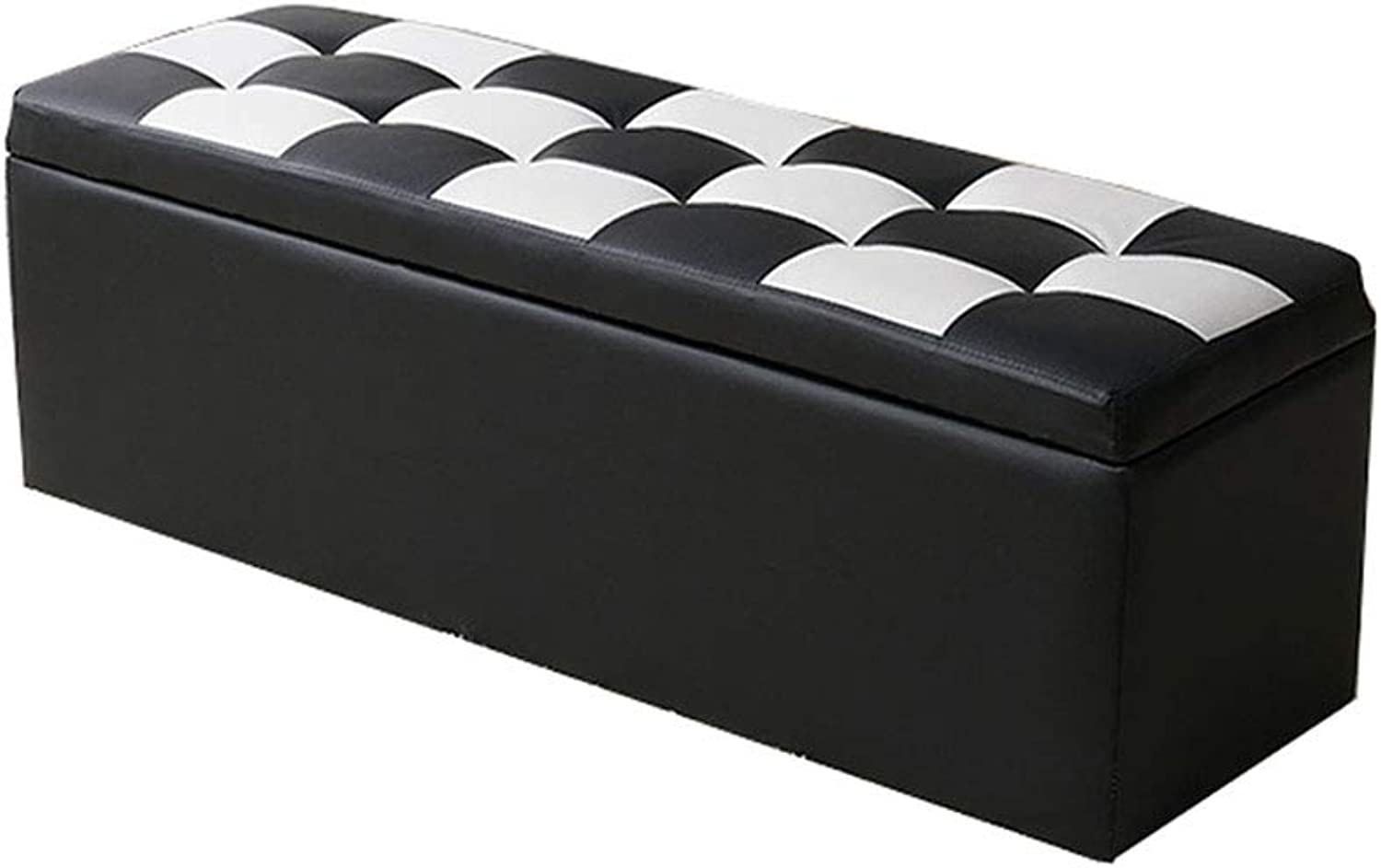 Solid Wood Rectangular Sofa Bench, Living Room, shoes Bench, Storage Stool, Storage Dressing Room, Fitting Room Stool, Multi-color, Multi-Size (color   Black and White, Size   40  40  40cm)