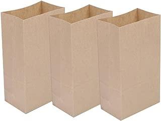 Ocharzy Kraft Bags Kraft Paper Lunch Bags Popcorn Bags, 50 Pcs (7x3.5x2.4 inches, Brown)