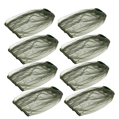 TAPBULL Premium Mosquito Head Net with Extra Fine Holes, Lightweight Face Mesh Neck Cover Netting Mesh Net, No-See-Ums and Midges, Perfect for Outdoor Activities (Green) (8 PCS)