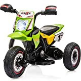 Little Brown Box Kids Dirt Bike 6V Ride On Motorcyle Vehicle Toy - Electric Three Wheels Quad - Battery Powered, Lights, Sound Kids Motorcycle for Toddler, Girls & Boys 1,2,3 Years Old Up -Green