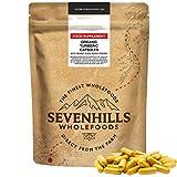 Sevenhills Wholefoods Cápsulas de Cúrcuma Bio con Polvo de Pimienta Negra 180 x 500mg