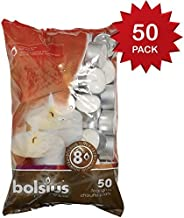 "Bolsius  8 hour burning Tealights, Bag ""50"""