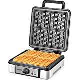 Belgian Waffle Maker Aicook, 4-Slice Waffle Iron 1200W with Temperature Control, Non-Stick, Electric...