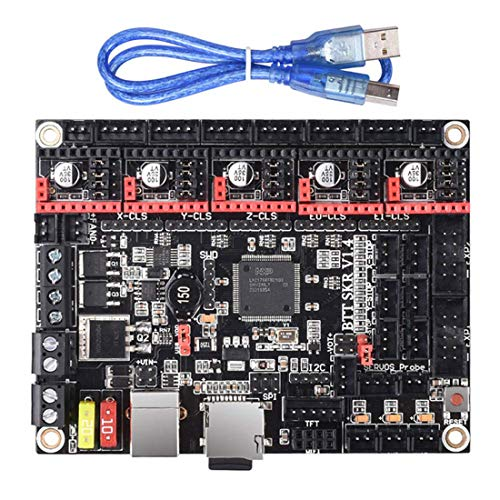 SKR V1.4 Turbo 32bit Control Board for 3D Printer Mainboard Compatible With 12864 LCD/ TFT24 Support 8825/TMC2208/TMC2130, Fits Ender 3/3 Pro/Ender 5/CR 10/Anet A6/Anycubic Kossel