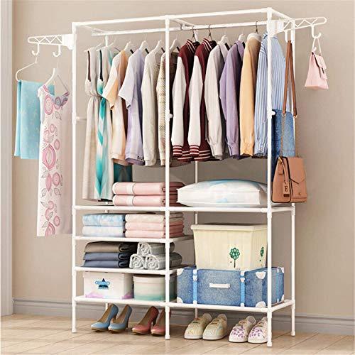 Perchero para ropa de trabajo pesado para colgar ropa, soporte de exhibición de zapatos, estante de almacenamiento para dormitorio, lavandería