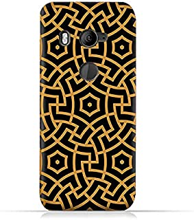 AMC Design TPU Silicone Protective Case with Morocco Traditional Arabic Pattern for HTC U11 Eye - Black & Yellow
