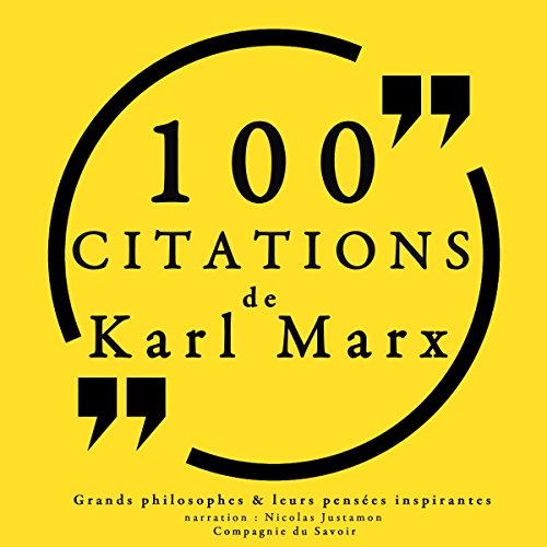 Couverture de 100 citations de Karl Marx