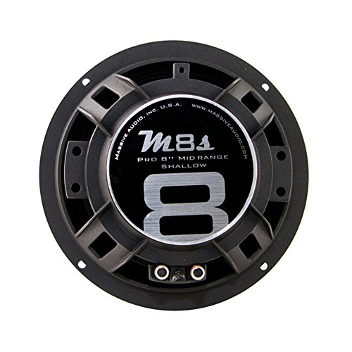 Massive Audio M8 – 8 Inch 280 Watts, 8 Ohm Pro Audio Midrange Speaker for Cars, Stage and DJ Applications. Sold Individually