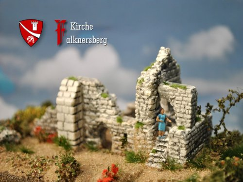 Burg-Kapelle Falknersberg, Bausatz, Spur N