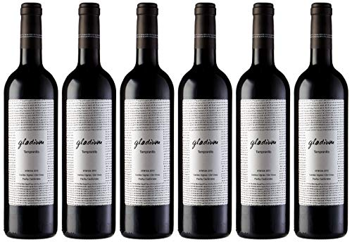 Gladium Viñas Viejas Vino tinto Crianza - Paquete de 6 x 750 ml - Total: 4500 ml