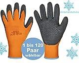 Arbeitshandschuhe Winter Thermo Winterhandschuhe Handschuhe Warm besichtete Sicherheitshandschuhe orange (6)