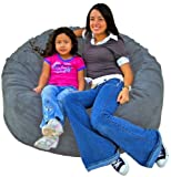 Cozy Sack 4-Feet Bean Bag Chair, Large, Grey