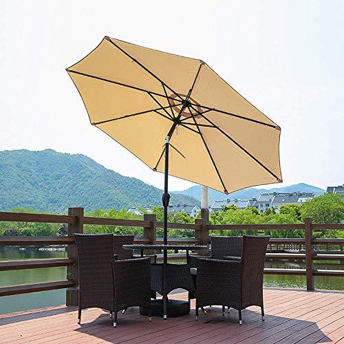 DSHUJC Ombrello da Tavolo inclinabile da 9 Piedi / 2,7 m Ombrello da Giardino inclinabile con manovella per Giardini Esterni e Patio (Arancione/Cachi)